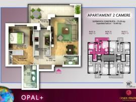 Apartament 2 camere, 75 mp, Pipera - Onix Park