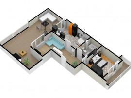 Apartament 2 camere 68 mpu + terasa 41.77 mpu   în Şeli...