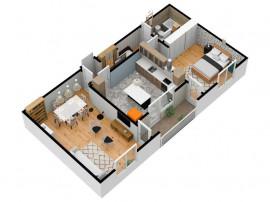 Apartament modern | 2 camere | 65mpu | Rate la dezvoltator