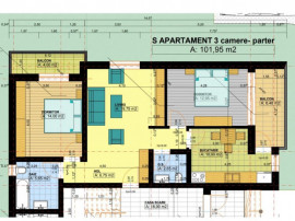 TRIVALE: 3 camere | Complex | zona linistita | Finisaje PREM