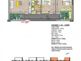 Apartament 3 camere nou, spatios, 84 mp, luminos, zona sud