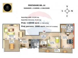 Penthouse in Arca Residence, Calea Feldioarei, nr. 35C