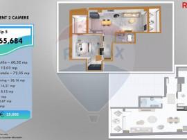 Apartament nou cu 2 camere de vanzare pe Calea Victoriei