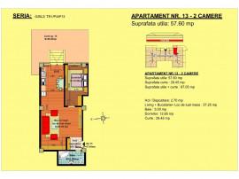 Apartament 2 camere , str Nicolae Labis 52 D , 57.6 mp