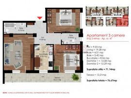 Apartament 3 cam de 7 min Metrou- Berceni
