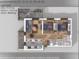 Apartament 3 camere -Titan-Metrou 1 Decembrie 1918