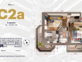 Apartament 2C, CT, finisaje premium, bloc nou, Copou
