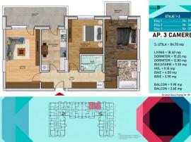 Apartament 3 camere - Pallady - Metrou 1 Nicolae Teclu