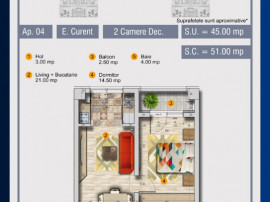 Apartament 2 camere - 0%Comision - Pollux Residence