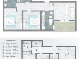 Apartament 3 camere- 10 MINUTE -METROU 1 DECEMBRIE-
