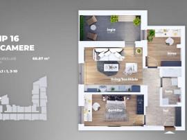 Apartament 3 camere- 12 minute de metrou 1 Decembrie-Auch...