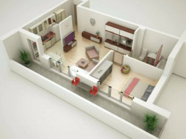 Apartament 2 camere proiect nou zona Shopping City