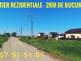 Discount 10% Teren in RATE cartier nou Berceni 2km Bucuresti