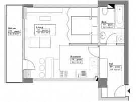 Apartament 2 camere open space 46.96mp Himson Metalurgie