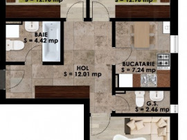 Apartament 3 camere ultracentral Magurele