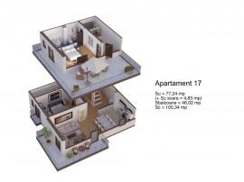 Apartament 3 camere in unirii green park residence unirii