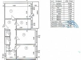 NORD - apartament 3 camere , cf1, decomandat, etaj 2