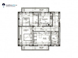 Apartament nou cu 3 camere, decomandat - 63.48 mp utili