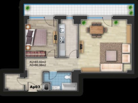 Apartament 2 camere sdk-delta oradea.