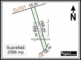 Balotesti - Caciulati, teren 2596 mp la asfalt