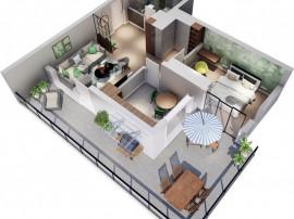 Apartament 2 cam Lipovei, terasa 32mp, la liziera padurii!