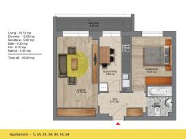 1 MINUTE METROU - Apartament 57 mp - FINISAJE LUX
