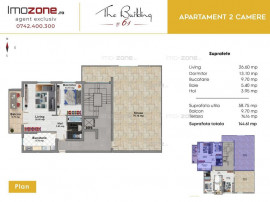 IMOBIL NOU, 2 CAMERE, Spatios, BUCATARIE 9 mp, LIVING 24 ...