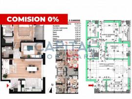 Apartament 3 camere in Floresti