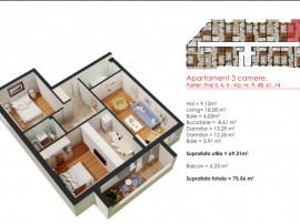 Apartament 3 Camere - Metrou Berceni - Comision 0%