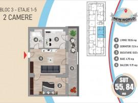 *Apartament 2 Camere* SUT55.84* New World Militari* Metro...