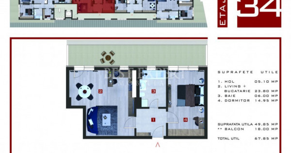 Theodor Pallady - Sector 3 Apartament 2 camere Parcare Acope