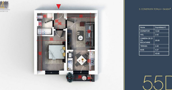 Apartament 2 camere tip Studio -Titan-Pallady - Metrou Ni...