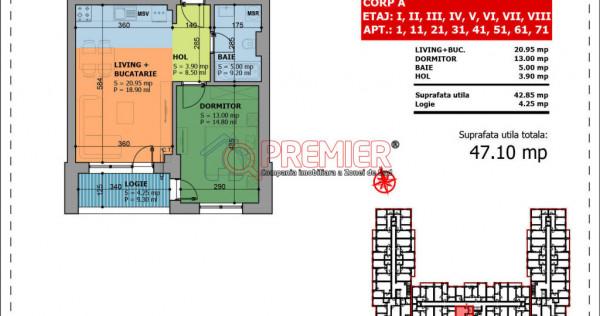 Apartament 2 camere de Promotie Luica-Giurgiului