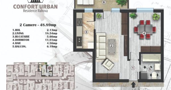 Apartament 2 cam. confort urban, 49mp, bloc nou sector 5,