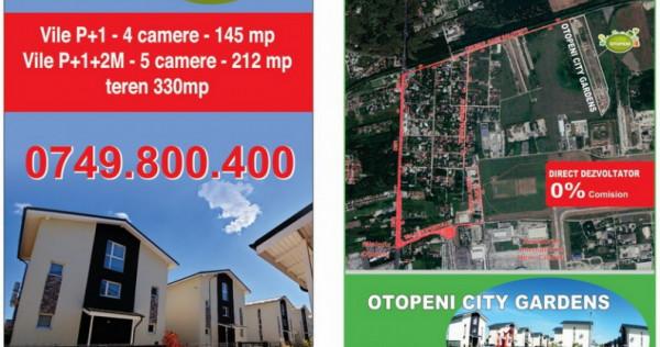 Vile 4 camere OTOPENI CITY GARDENS - ultimele 3 vile libere