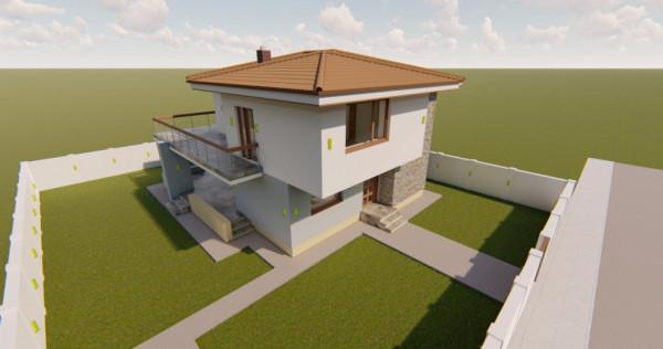 Vila individuala cu rate la dezvoltator pe 5 ani, design spe