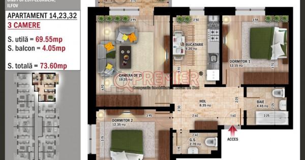 Apartament 3 camere Popesti-Leordeni