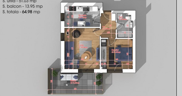 Apartament 2 camere Titan -PALLADY- 15 minute Metrou 1DEC...