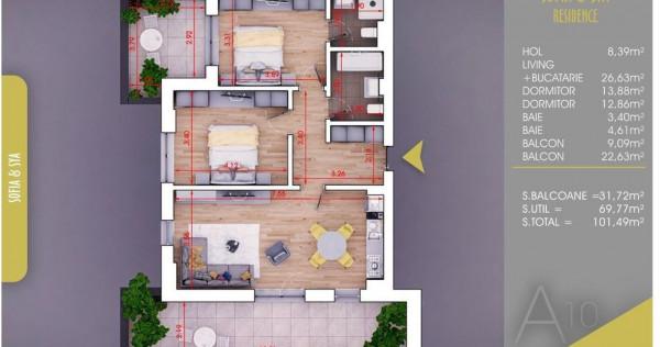 Apartament 3 camere-PALLADY- 10 MINUTE -METROU NICOLAE TECLU