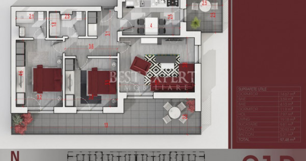 Apartament 3 camere cu Terasa 21mp   Parcare Subterana   Ide
