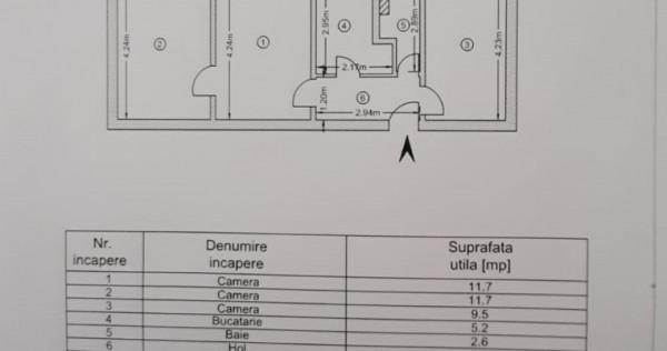 Apartament cu 3 camere in Micro 19 langa Piata