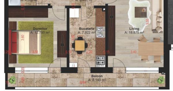 Park Residence Magurele apartament 2 camere, terasa de 8 mp!
