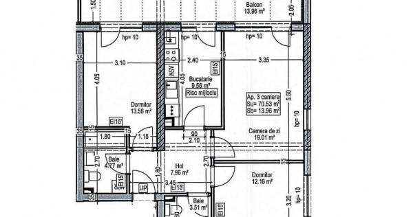 Apartament 3 camere- 15 MINUTE -METROU 1 DECEMBRIE-