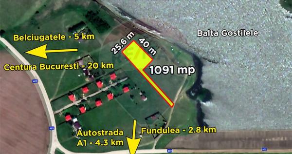 Teren Fundulea langa lac 1091 mp Belciugatele, Balta Gost...