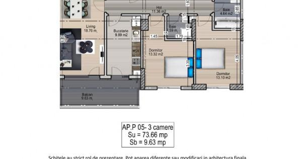 Apartament 3 camere - Mihai Bravu