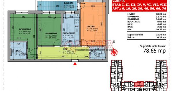 Apartament 3 cam de - Berceni-Luica-Giurgiului