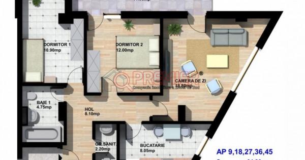 Dezvoltator direct! Apartament 3 camere- Mall Grand Arena