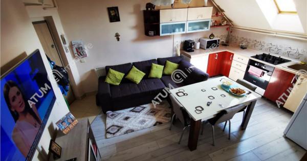 Apartament mobilat cu 4 camere si balcon 70 mp in Sibiu