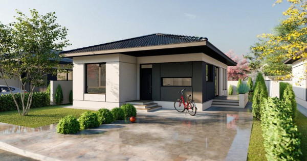 Casa/Vila un singur nivel, curte de 300m Tunari, 0% comision