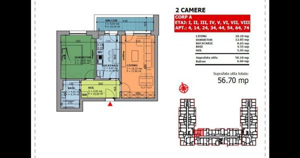 Apartament 2 Camere - Lux - Brancoveanu - Direct Dezvoltator